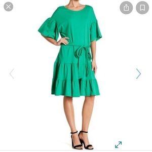 Bobeau NWT green ruffle dress, XXSP